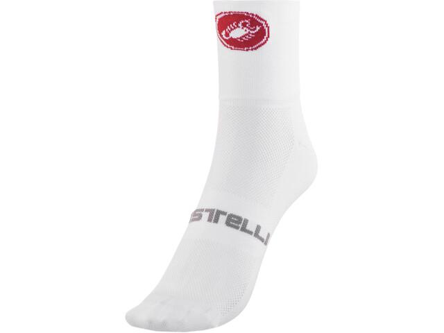 Castelli Quattro 9 Cykelstrømper hvid (2019) | Socks